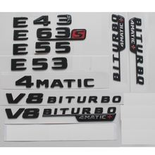 Глянцевые черные буквы для mercedes benz w212 w213 s213 e43