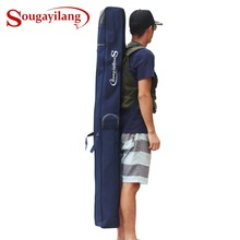 Sougayilang 1.6/1.7m Folding Portable Waterproof 1/2 layer Fishing Rod Carrier Canvas Fishing Pole Tools Storage Bag Case