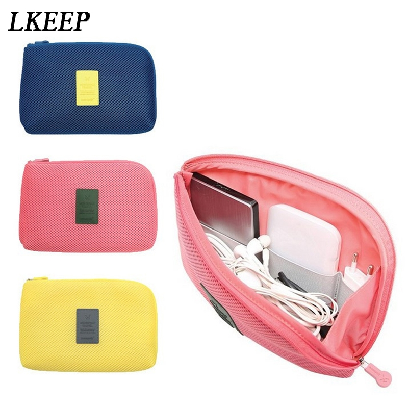 Portable Travel Bag System Kit Case Digital Gadget Devices USB Cable Earphone Pen Packing Organizers Insert Bag