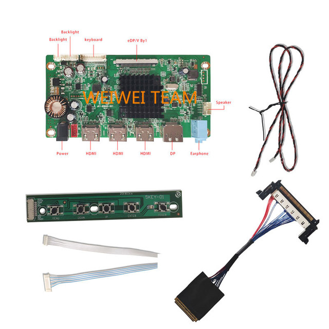 Wisecoco-pantalla LCD 4k, 23,8 pulgadas, 3860x2160 pulgadas, pantalla IPS uhd LCDs, tablero controlador hdmi de 30 Pines, 10 bits, 99% sRGB, monitor de escritorio