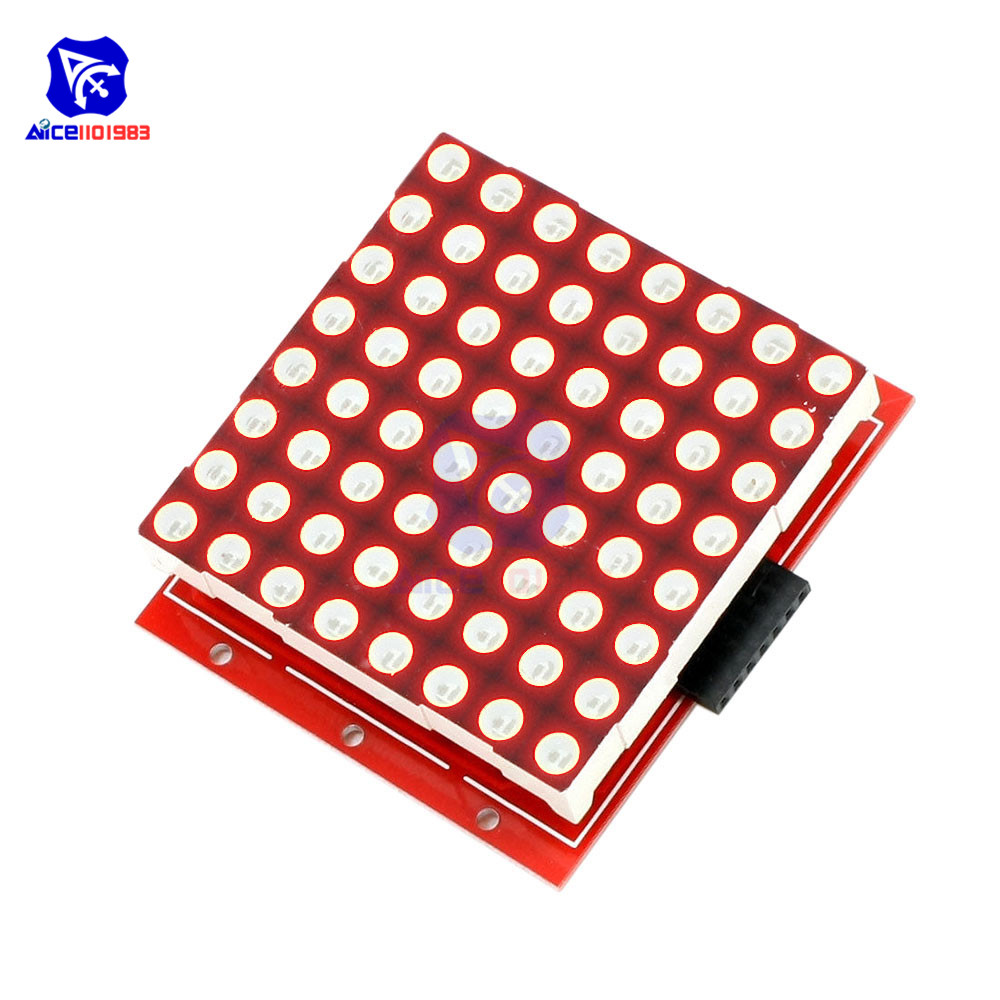 Diymore 8x8 Red LED Dot Matrix LED Module Control Display Module With Driver Shield For Arduino Raspberry