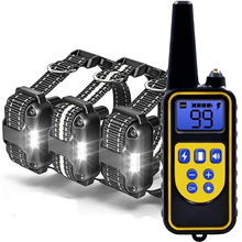 Dog-Training-Collar Shock Electric Vibration-Sound Remote-Control Waterproof with Lcd-Display