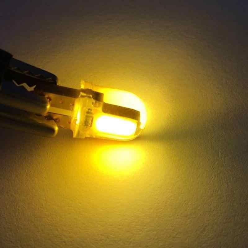 1 stücke Silikon Kristall T10 COB LED Breite Lampe W5W 168 194 Auto side Wedge Lesen Lampe Lizenz Platte Licht auto zubehör