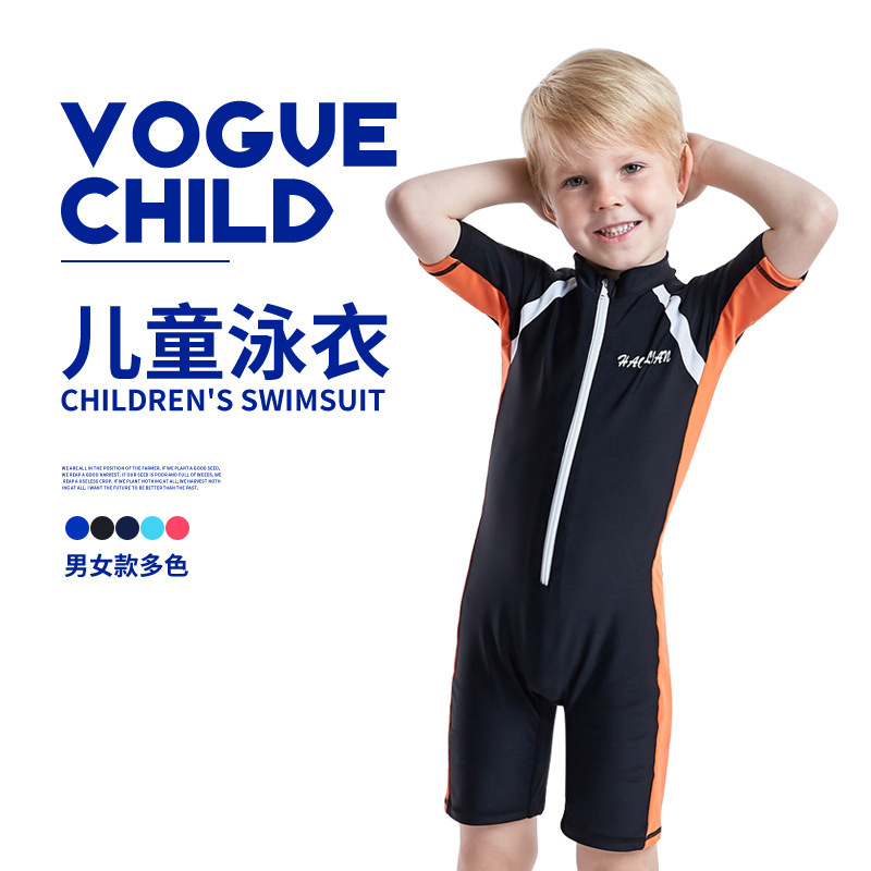 KID'S Swimwear BOY'S One-piece Sun-resistant Big Boy Baby GIRL'S Baoye Training Swimwear Sun-resistant Surfing Hot Springs