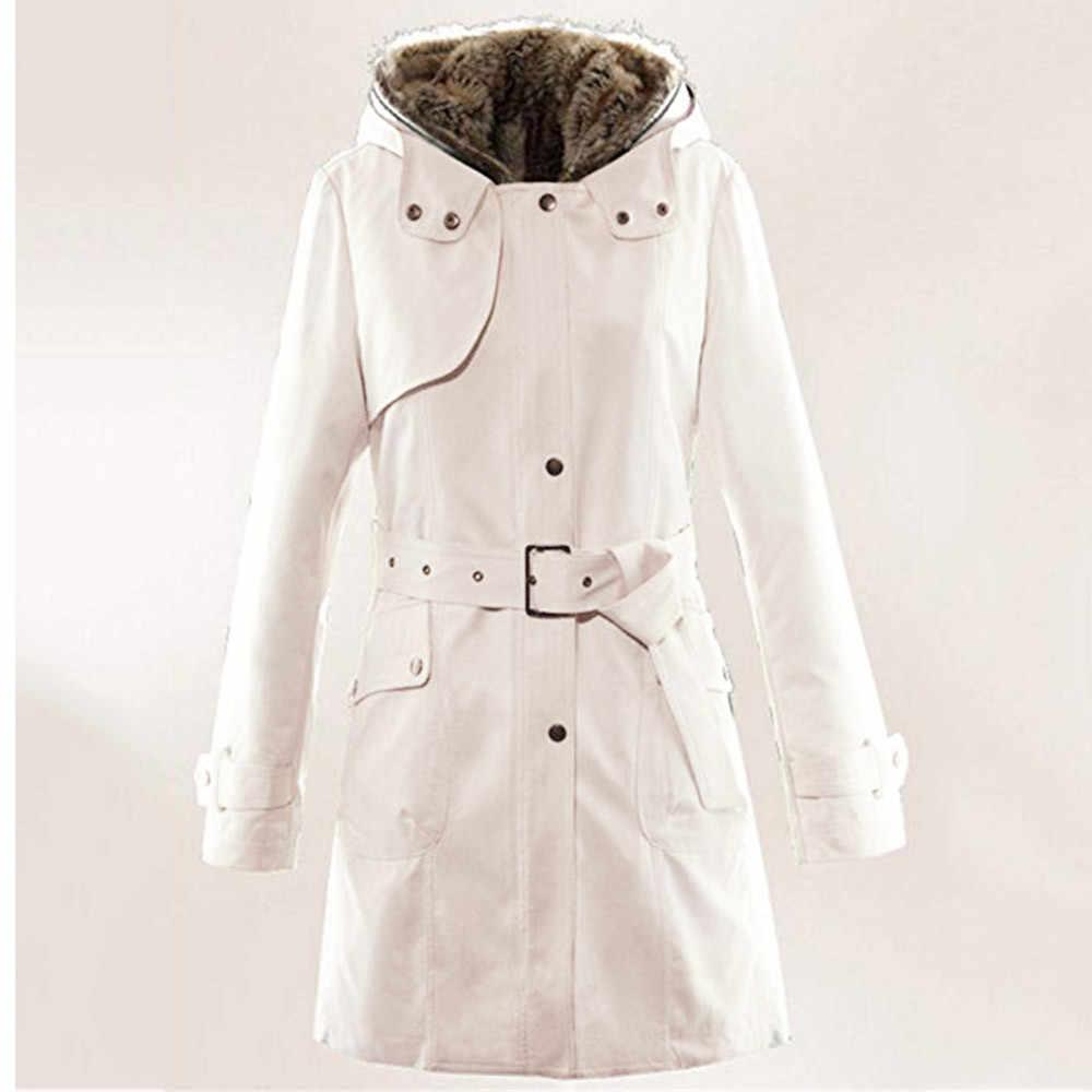 Damen Pelz Futter Mantel Frauen Winter Warme Starke Lange Jacke Mit Kapuze Parkas Frauen Pelz Mäntel frauen Winter Jacken Und mäntel