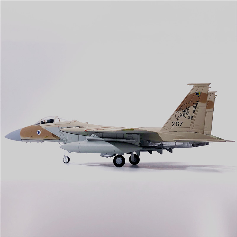 1/100 Israel Airforce US F15 F-15 Eagle Fighter Camo Israel Air Force One Diecast <font><b>Aircraft</b></font> <font><b>Model</b></font> Alloy Airline Toy Collection image