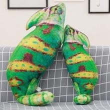 Simulation Tropical Rainforest Animal Chameleon Lizard Plush Toy Doll Childrens Sofa Pillow Home Decoration