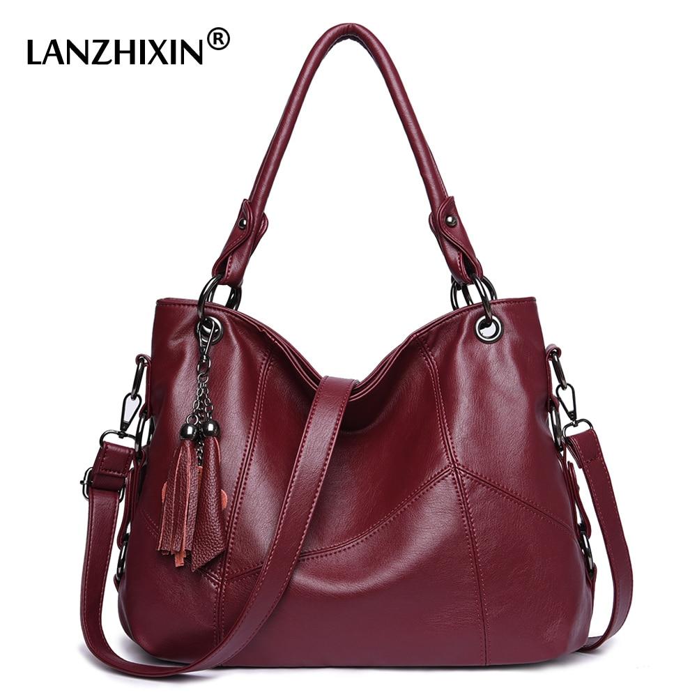 Women Leather Handbags Women Messenger Bag Designer Crossbody Bags For Women 2019 Bolsa Feminina Tote Shoulder Bags Sac A Main