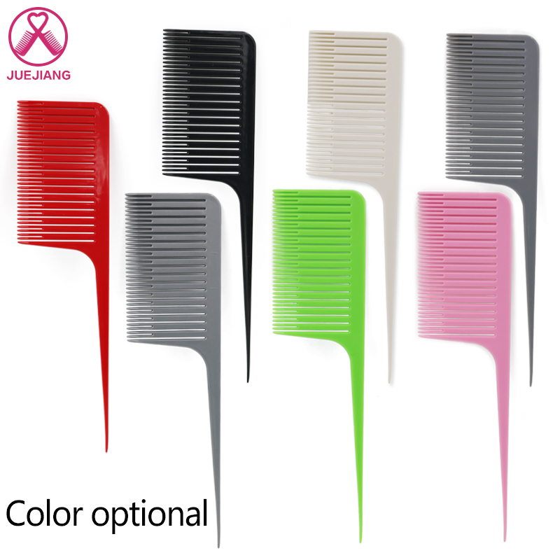Hair Highlight Weave Comb Tail Pro-hair Dyeing Comb Weaving Cutting Comb For Hairdressing Salon