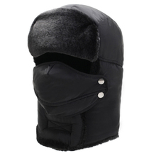 ELOS-Ski Cap Catcher Hat Eskimo Hat Winter Cap Black Snow Cap Thermal Winter Face Cap Men Outdoor Cycling Windproof Warm Hat