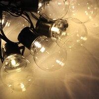 LED Globe Festoon string light bulb 10m 38 led wedding string fairy light christmas outdoor party Street garden garland