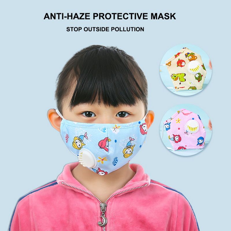 1Pc Children PM2.5 Mouth Masks For Kids Cartoon Thicken Smog Mask Warm Dust Mask Facial Protective N95 Covers Mouth Cap
