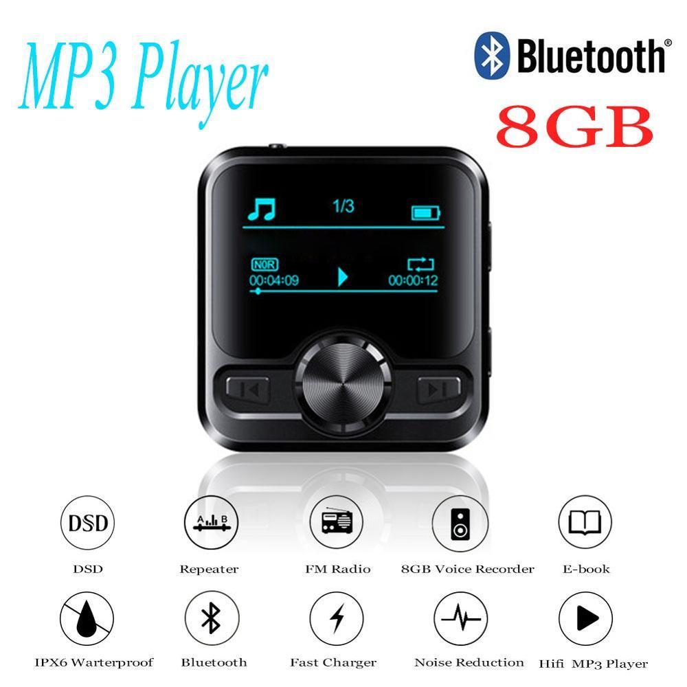 M9 HIFI Sports Bluetooth MP3 Player Speakers Bluetooth Earphone Voice Recorder Hifi MP3 Recorder 1.2 Inch Display