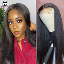 Rucycat 32 Polegada cabelo reto 5x5 laço encerramento peruca cabelo brasileiro frente do laço perucas de cabelo humano pré arrancado 30 Polegada peruca dianteira do laço