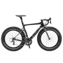 Rower szosowy SAVA rower węglowy rower szosowy z pełnym węglem 700C rower szosowy z włókna węglowego z kółkami 88MM i SHIMANO ULTEGRA R8000 tanie tanio Unisex Carbon Fibre Road Bike 160-185 cm 7 9kg 1 33 Double V Brake 15kg 0 1 m3 Wiosna wideł (niska biegów bez tłumienia)