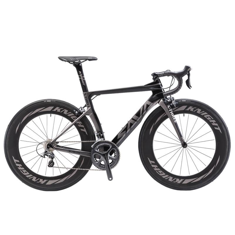 SAVA Road Bike Carbon Bike Full Carbon Road Bicycle 700C Carbon Fiber Road Bike with 88MM Wheels and SHIMANO ULTEGRA R8000