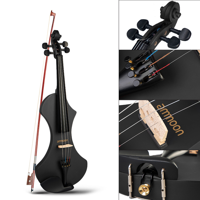 Electric Violin with Brazilwood Bow, Headphones, Carry Bag & 6.35mm Audio Cable 5
