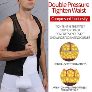 Image 3 - Mężczyźni odchudzanie urządzenie do modelowania sylwetki kontrola brzucha gorset Waist Trainer Man Shapewear modelowanie bielizna czopiarki korygująca postawa kamizelka gorset
