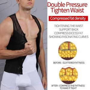 Image 3 - Mannen Afslanken Body Shaper Belly Controle Taille Trainer Man Shapewear Modellering Ondergoed Shapers Corrigerende Houding Vest Corset