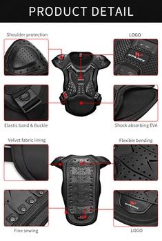 WOSAWE Motocross Body Armor Jacket Vest Gilet Protective Gear Shorts MTB Windbreaker Coat Chest Back Support Motorcycle Armor 2