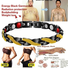 Energy Magnets Slimming  Bracelets Magnetic Therapy Bracelet Weight Loss Relaxation Anti Snoring Black Gold Health Care Jewelry