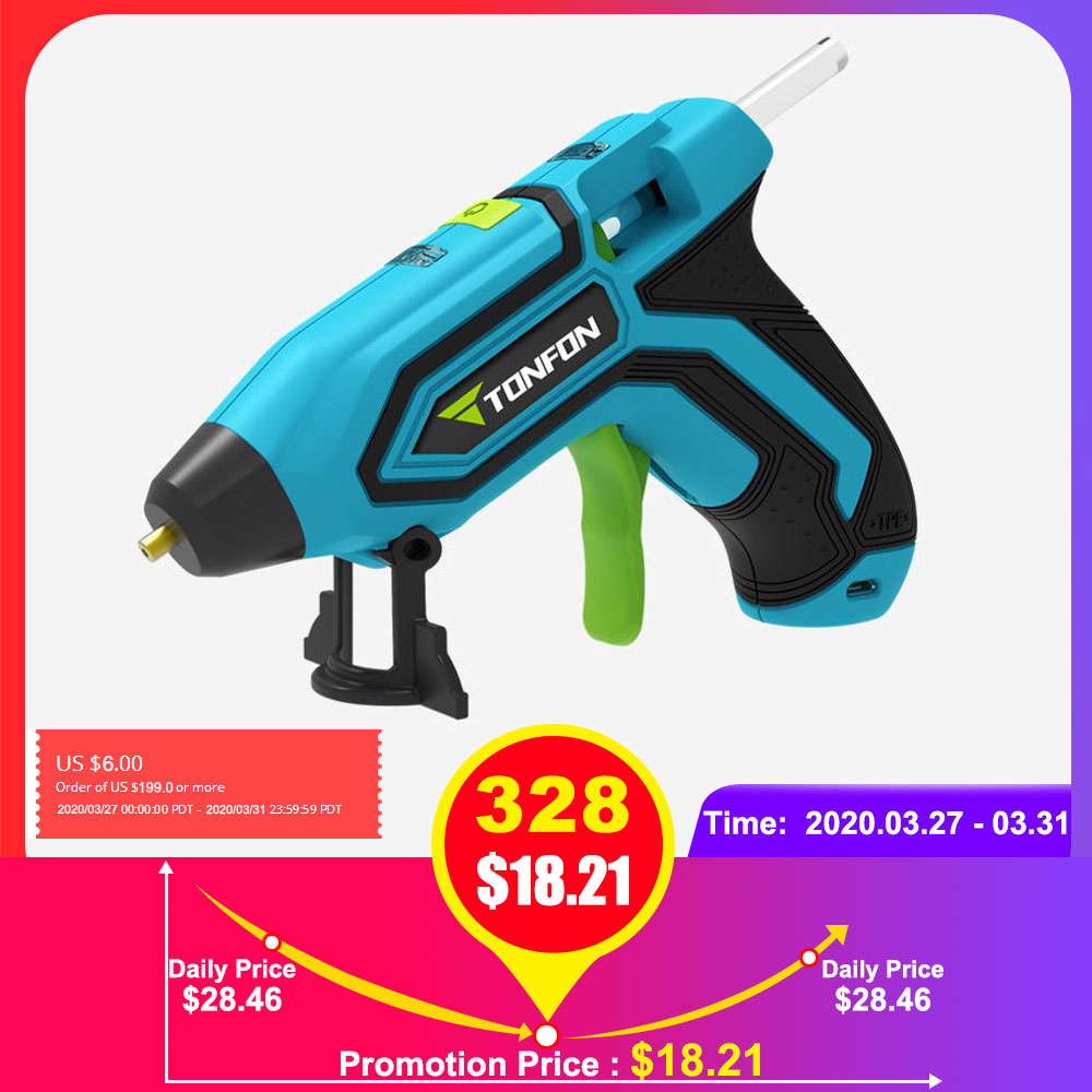 3.6V Lithium-ion Hot Melt Glue Gun With 5pcs 7mm Sticks Wireless Graft Repair Heat Gun Pneumatic Home DIY Tools Hot Glue Gun