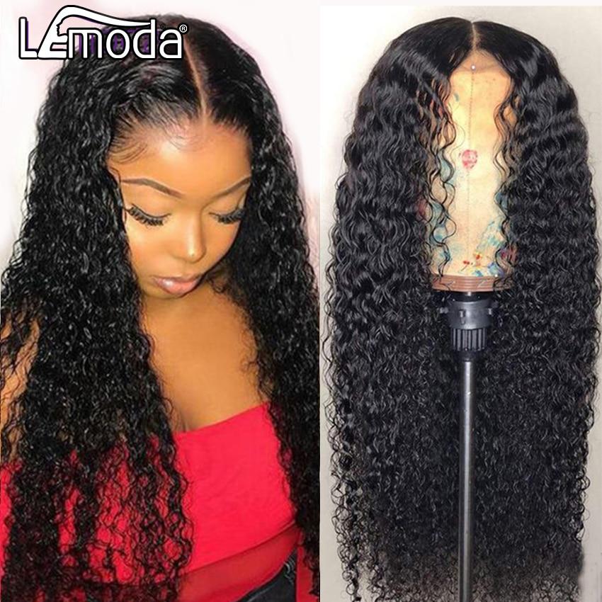 13x6 HD прозрачный кружевной парик вьющиеся Синтетические волосы на кружеве человеческих волос парики для чернокожих Для женщин Lemoda бразильс...