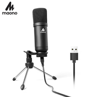 MAONO A04TR USB Microphone Kit 192KHZ/24BIT Computer Cardioid Mic Podcast Condenser Microphone for PC Karaoke YouTube Gaming