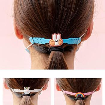 5/10/15/20PCS Mask Extension Buckle Kids Cartoon Silicone Mask Ear Hook Strap Holder Mask Accessories Random Color Dropshipping