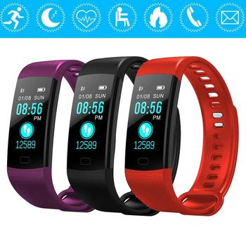 Bluetooth Smart Bracelet Color Screen Y5 Smartband Heart Rate Monitor Blood Pressure Measurement Fitness Tracker Watch Men
