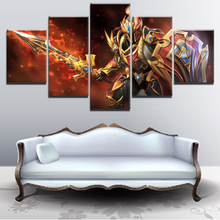 Printed Popular Posters 5 Set DOTA 2 Game Modular Pictures Canvas Painting Bedroom Modern Home Decorative Wall Artwork