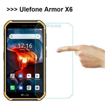 Перейти на Алиэкспресс и купить Закаленное стекло для Ulefone Armor X6 защита экрана 9H взрывозащищенный мобильный телефон чехол для Ulefone Armor X6 защитная пленка