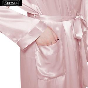 Image 4 - LILYSILK Womens Silk Robe Classic Full Length Long 22 Momme Pure Silk