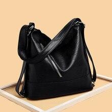 Women Hobos Bag Luxury Brand 2019 Vintage Designer Female Shoulder Bags Large Capacity Soft Leather Messenger Handbag Sac A Main