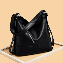 Women Hobos Bag Luxury Brand 2019 Vintage Designer Female Shoulder Bags Large Capacity Soft Leather Messenger Handbag Sac A Main