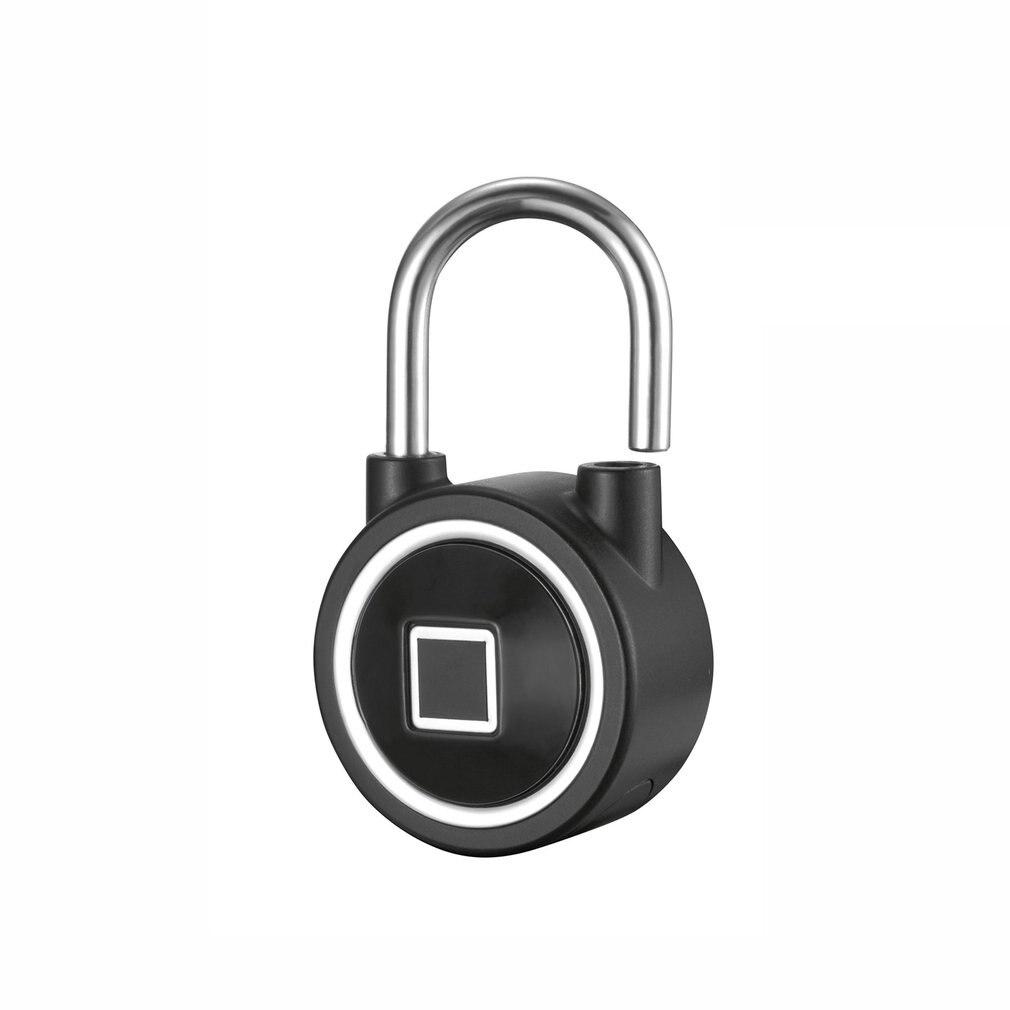 Mini Portable Fingerprint Safe Lock IP65 Waterproof Keyless Anti-theft Padlock Door Lock USB Charging Safe Lock