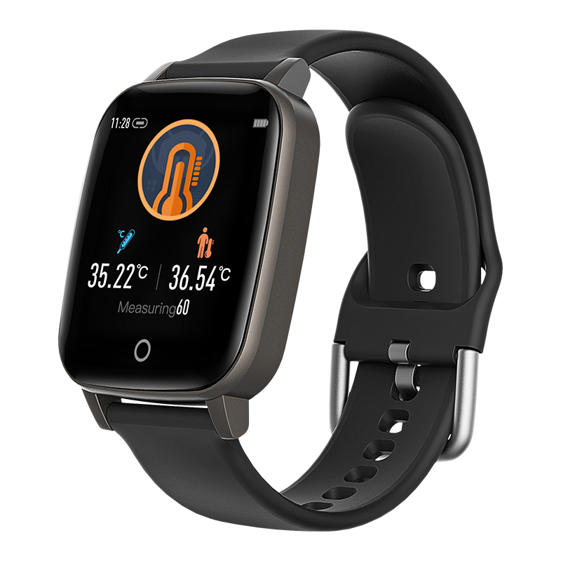 Blood Pressure Smartwatch Fitness Band Ecg Heart Rate Monitor T1 Body Temperature Sensor Smart Watch