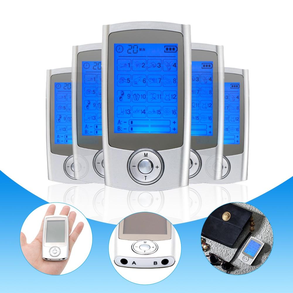 Модернизированная независимая двухканальная система EMS, 16 режимов электростимуляции, акупунктурный массаж, облегчение боли, импульсный ма