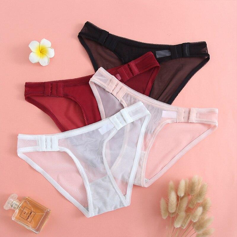Culotte en dentelle Sexy pour femmes, slip doux et respirant, sous vêtements transparents, ajouré, Lingerie intime |