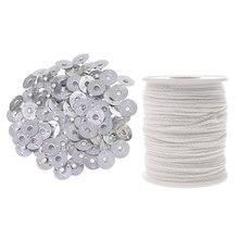 Suministros de fabricación de velas, mechas de Base de algodón para la fabricación de velas, accesorios DIY