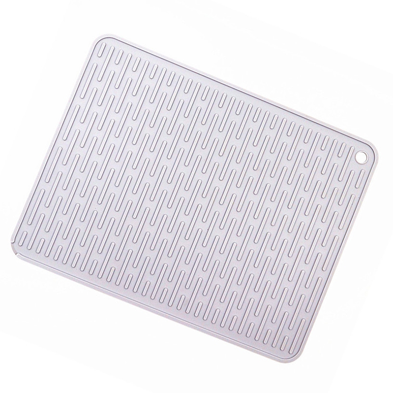 HOT SALE Large Silicone Placemat Dish Drying Mat Kitchen Draining Table Drain Mat Sink Non Slip Pad Durable Pot Holder Cup Coast Mats & Pads     - title=