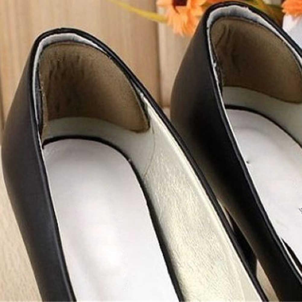 Venda quente 1 par de tecido pegajoso sapato volta calcanhar inserções palmilhas almofadas almofada forro apertos sapatos almofadas anti-deslizamento inserções calcanhar adesivo