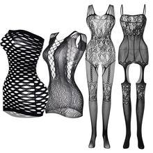 Lingerie aberta feminina plus size, transparente, fantasia erótica, nuisette