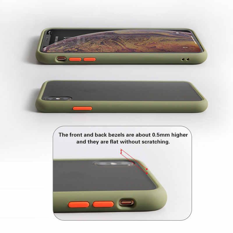 غلاف خلفي مقاوم للصدمات لهاتف آيفون 11 برو ماكس شفاف حافظة ناعمة لهاتف آيفون X XS Max XR 10 8 7 6S Plus SE 2020