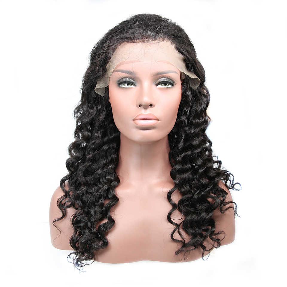 13x6 Lace Front Menselijk Haar Pruiken Peruaanse Natuurlijke Wave 180% Dichtheid Pruiken Voor Zwarte Vrouwen Remy Lijmloze 360 lace Pruik