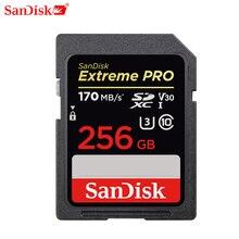 Sandisk Geheugenkaart Extreme Pro Sdhc/Sdxc Sd kaart 32Gb 64Gb 128Gb 256Gb C10 U3 v30 Uhs i Cartao De Memoria Flash Card Voor Camera