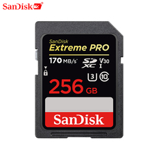 Sandisk Memory Card Extreme Pro Sdhc/sdxc Sd Card 32gb 64gb 128gb 256gb C10 U3 V30 Uhs i Cartao De Memoria Flash Card For Camera