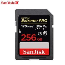 Sandisk carte mémoire extrême Pro Sdhc/sdxc carte Sd 32gb 64gb 128gb 256gb C10 U3 V30 uhs i Cartao De mémoire carte Flash pour appareil photo