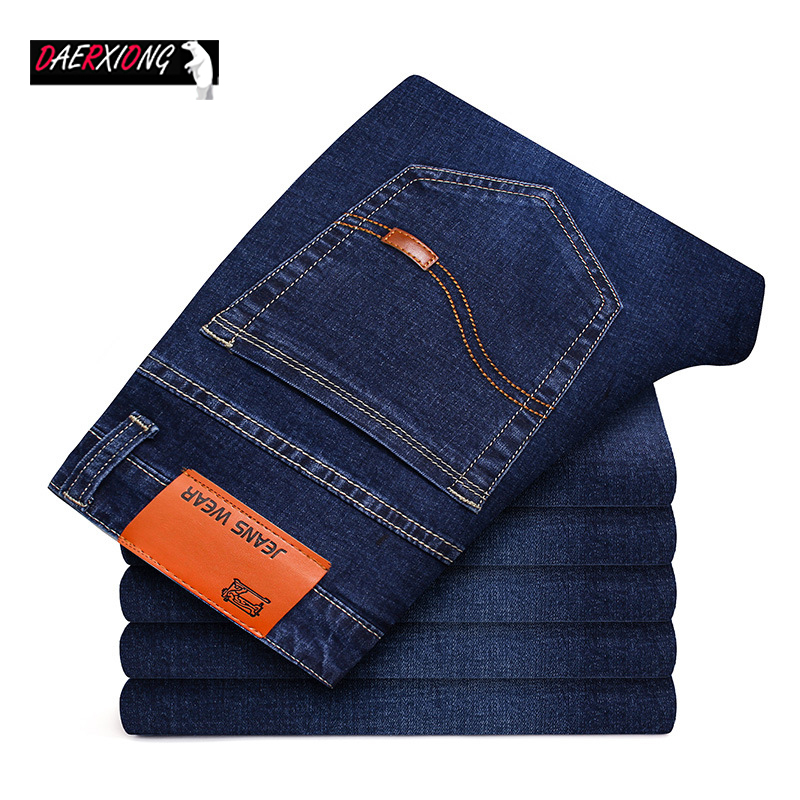2020 Spring Autumn Jeans Men Stretch Denim Slim Jean Man Black Blue Business Mens Jeans Brand Soft Trousers Male Pant Large Size