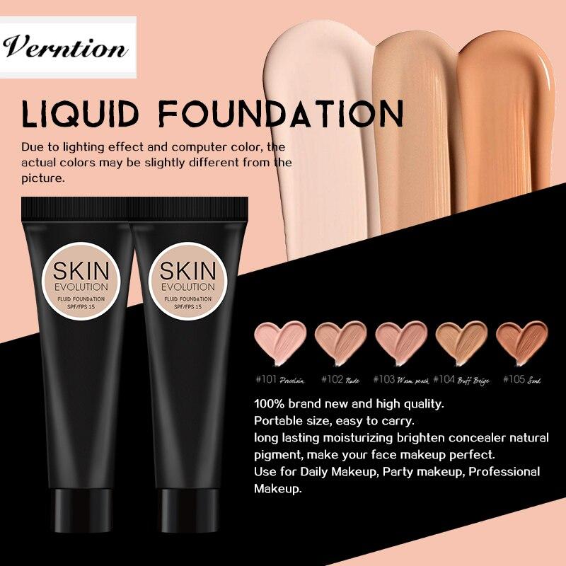 Verntion  Foundation Makeup Liquid Foundation Full Coverage Matte Moisturizer Face Base High Coverage Brighten Concealer Cream